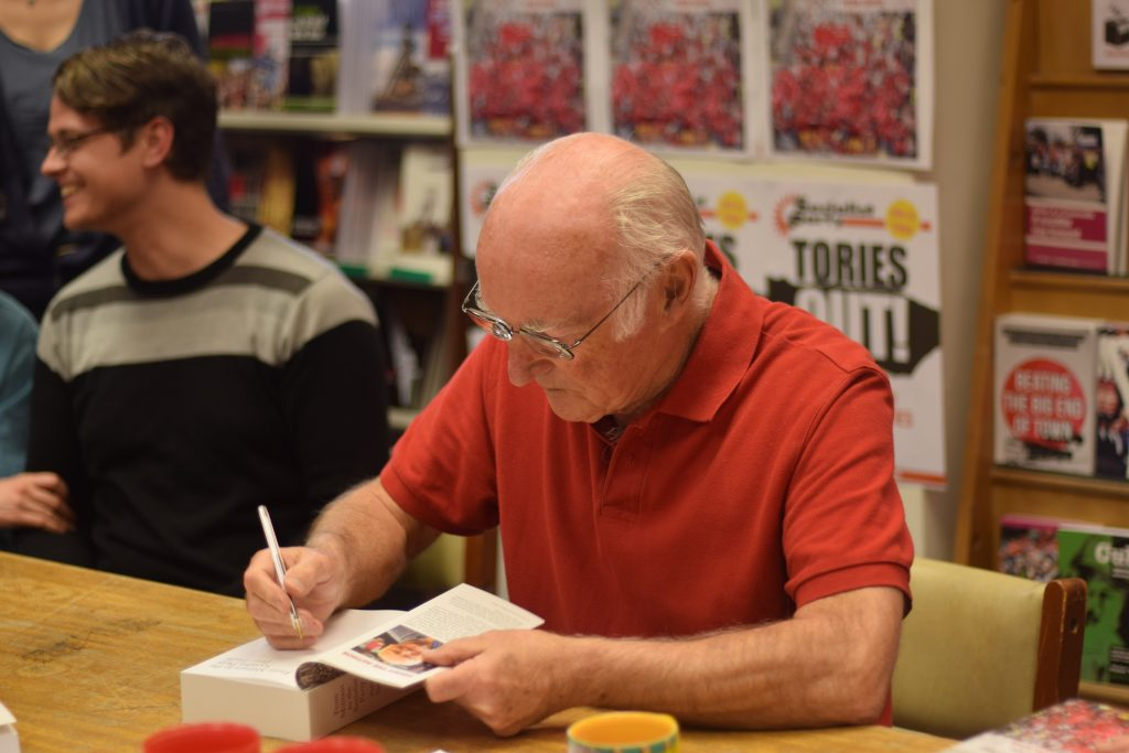 From Militant to the Socialist Party signing. Photo Mary Finch.