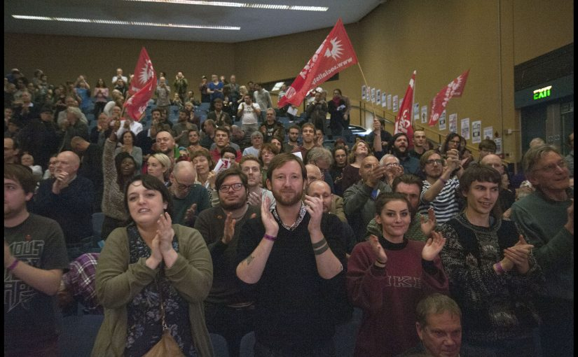 Socialism 2016 rally. Photo Paul Mattsson.