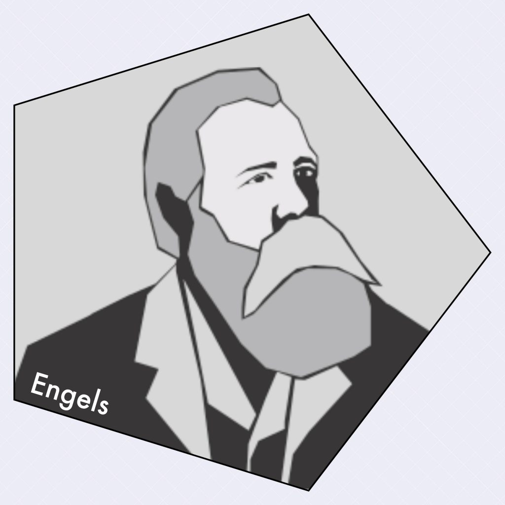 Engels illustration by Sofia Wiking